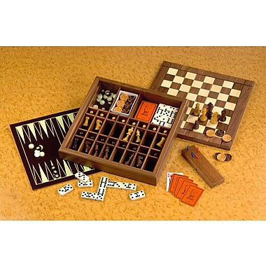 Drueke Drueke Ultimate Game Box with Backgammon; Black