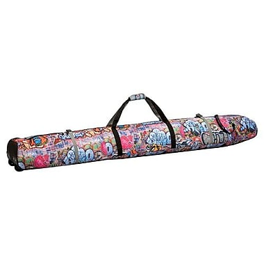 Athalon Sportgear Wheeled Padded Double Ski Bag - 190 cm; Graffiti