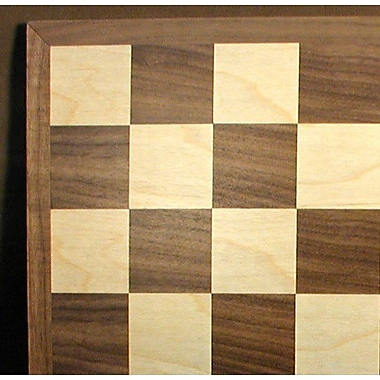 WorldWise Chess 15'' Walnut / Maple Veneer Chess Board