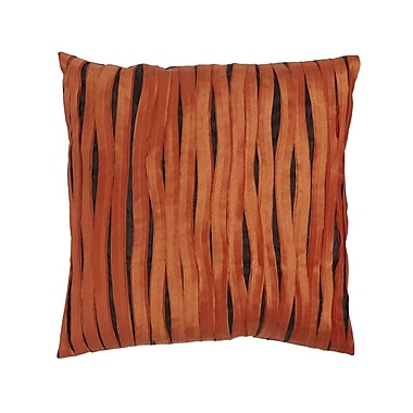 Cloud9 Design Accent Linen Throw Pillow; Orange