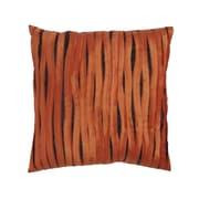 Cloud9 Design Accent Linen Throw Pillow; Orange