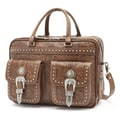 American West Retro Romance Leather Briefcase