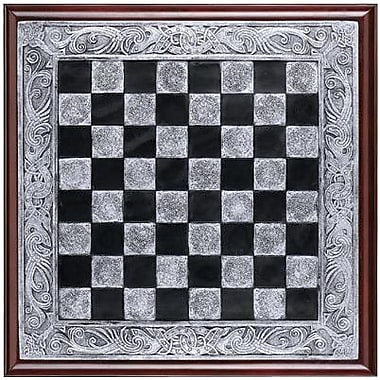 Design Toscano Mystical Legends Chess Board in Faux Silver and Ebony
