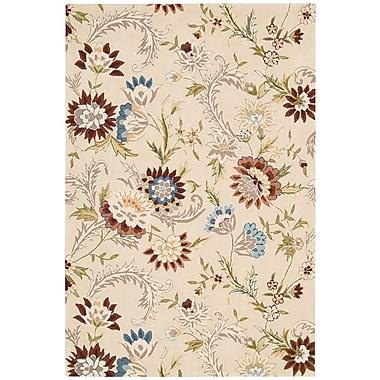 Nourison Gatsby Beige Floral Area Rug; 3'9'' x 5'9''