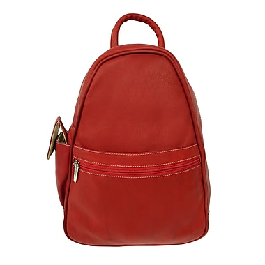 Piel Fashion Avenue Tri-Shaped Sling Backpack; Red