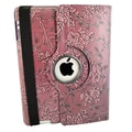 Bargain Tablet Parts Ipad 2 and Ipad 3 Embossed Flower Rotating Case; Purple