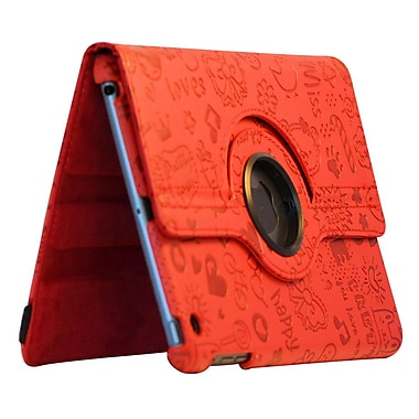 Bargain Tablet Parts Ipad Mini Cute Series Rotating Case; Red