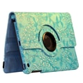 Bargain Tablet Parts Ipad Mini Flower Rotating Case; Blue