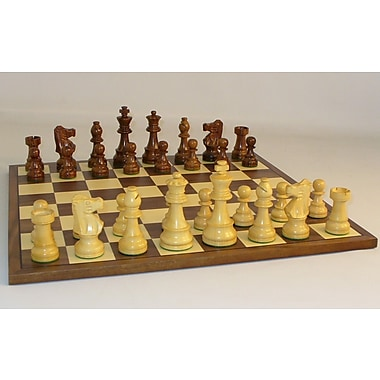WorldWise Chess Sheesham French-Walnut Chess Board