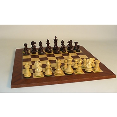 WorldWise Chess Walnut Stained Exclusive on Mahogany Chess Board