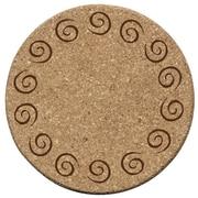 Thirstystone Swirls Cork Coaster (Set of 6)