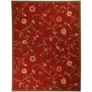 Ottomanson Ottohome Dark Red Floral Garden Area Rug; 3'3'' x 5'