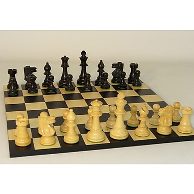 WorldWise Chess Black French on Black / Maple Basic Chess Board