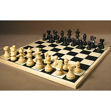 WorldWise Chess Black French on Silkscreen Chess Board