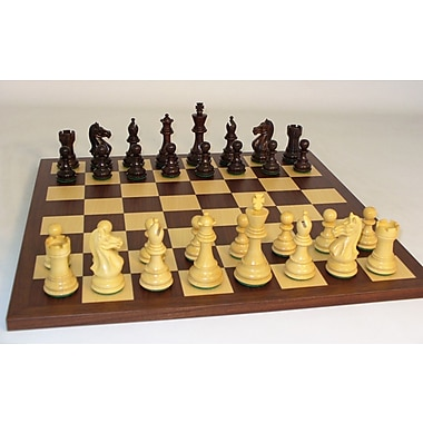 WorldWise Chess Rosewood Pro on Dark Rosewood Chess Board