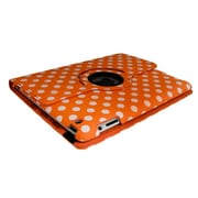 Bargain Tablet Parts Ipad 2 and Ipad 3 Polka Dot Rotating Case; Orange