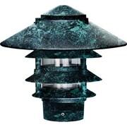 Dabmar Lighting 1 Light Pagoda Landscape Lighting; Verde Green