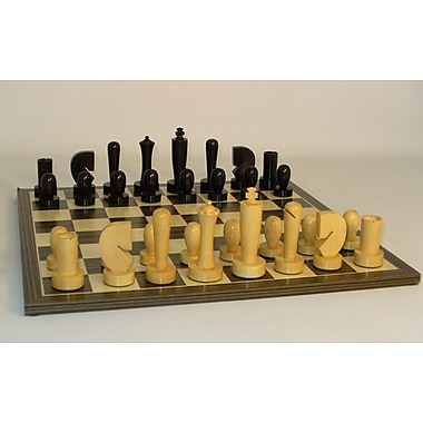 WorldWise Chess Black Berliner on Ebony Veneer Chess Board