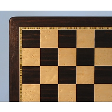 WorldWise Chess 21'' Ebony and Chess Boardseye Maple Chess Board