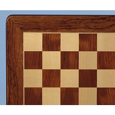 WorldWise Chess 21'' Padauk and Maple Veneer Chess Board