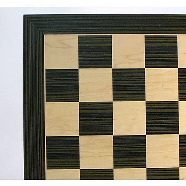WorldWise Chess 22'' Ebony and Maple Veneer Chess Board