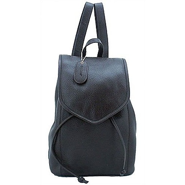 Leatherbay Small Backpack; Dark Chocolate