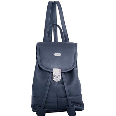 Leatherbay Leather Mini Backpack; Black