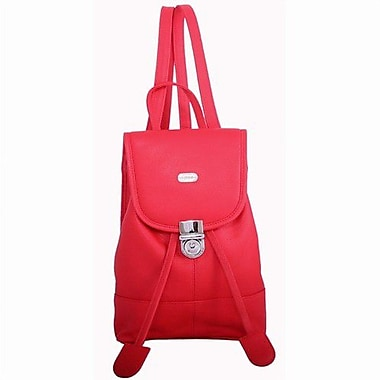 Leatherbay Leather Mini Backpack; Crimson Red