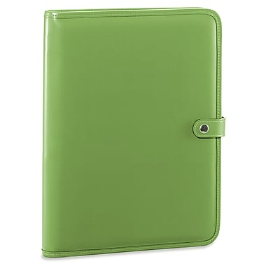 Jack Georges Milano Letter Size Writing Pad with Snap Closure; Green