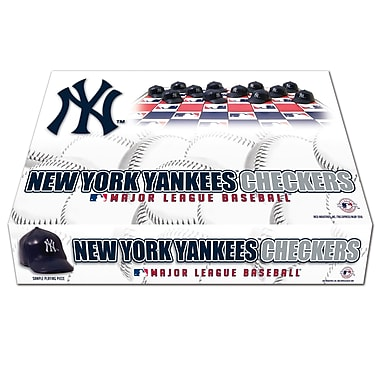 Rico Industries MLB Checker Set; New York Yankees
