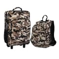 Obersee 2 Piece Camo Kids Luggage and Backpack Set