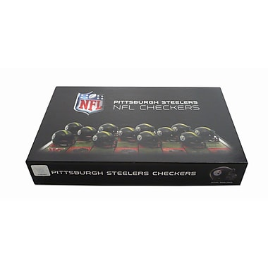 Rico Industries NFL Checker Set; Pittsburgh Steelers