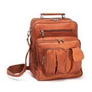 Le Donne Leather I-Pad/Tablet Organizer Satchel Bag; Tan