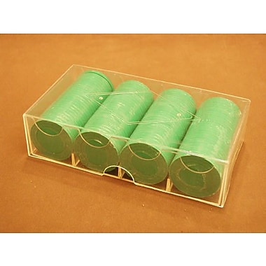 Play All Day Games 0.02 lb Poker Chips Boxed in Green