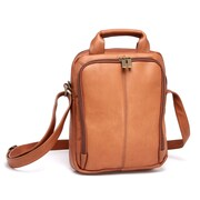 Le Donne Leather Day Satchel Bag; Tan