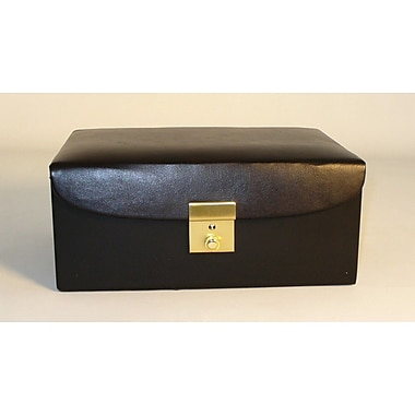 Chopra Vinyl Divided Box in Black