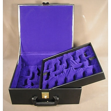Chopra Deluxe Black Vinyl Chess Box