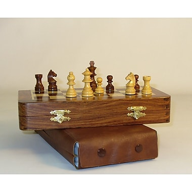 Pleasantime 7'' Folding Wood Magnetic Chess Set