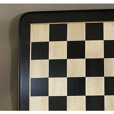 Pleasantime 21'' Ebony and Maple Thick Veneer Chess Board