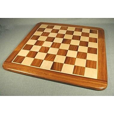 Pleasantime 21'' Sheesham and Maple Thick Veneer Chess Board