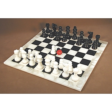 Scali Alabaster Chess Set in Black / White