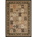 Kalora Visconti Dark Traditional Area Rug; 5'3'' x 7'7''