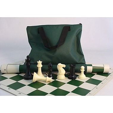CN Chess 4'' Tournament Men with Mat and Tote