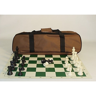CN Chess Tournament Set with Brown Canvas Tote