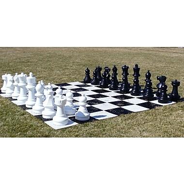 CN Chess Garden Chessmen on Chess Board