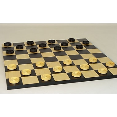 Checkmate 15'' Checker Set in Black / White