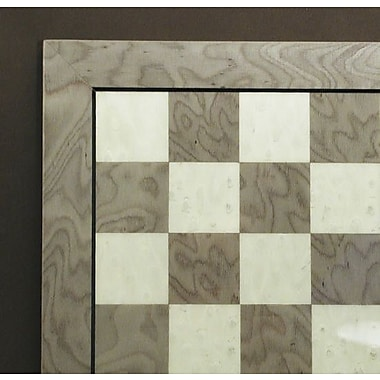 Ferrer 13'' Briar Chess Board in Grey / Ivory
