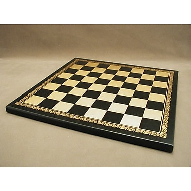 Ital Fama 13'' Pressed Leather Chess Board