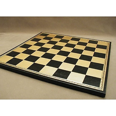 Ital Fama 15'' Pressed Leather Chess Board