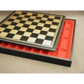 Ital Fama 17'' Pressed Leather Chest Chess Board